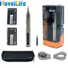 ES121 ES120 Plus Mini tournevis électrique sans fil de précision tournevis de puissance de contrôle de mouvement intelligent 16 pièces 4mm jeu de bits