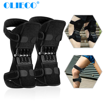 OLIECO Knee Joint Support Pads Knee Protection Booster Powerful Spring Rebound Knee Leg Protector Sport Power Lift Equipment