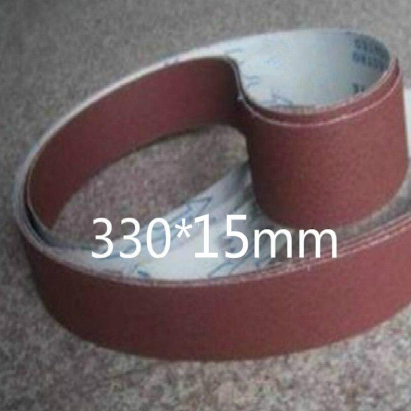 330*10MM 330*15MM 330*25MM 330*30MM sandpaper belt sand paper belt sanding pad sandpaper for grinder wheel belts 40-600mesh