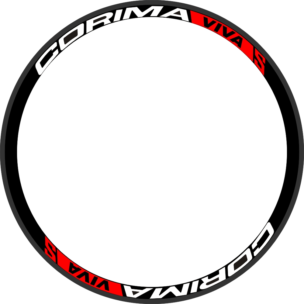 VIVA S 700c Wheels Rim Stickers Road Bicycle Wheels Decals for CORIMA Wheelset 35/38/40/50/50/55/60mm Depth 700C 2 Wheels