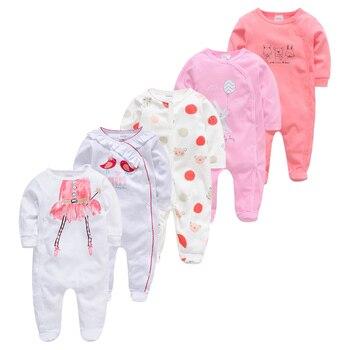 Dziecko piżamy 5 sztuk dziewczyna chłopiec Pijamas bebe fille bawełna oddychająca miękka ropa bebe noworodka śpiące dziecko Pjiamas