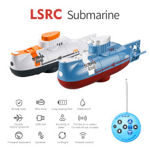 Mini RC Submarine 0.1m/s Speed Remote Control Boat Waterproof Diving Toy Simulation Model Gift for Kids Boys Girls New Year Gift