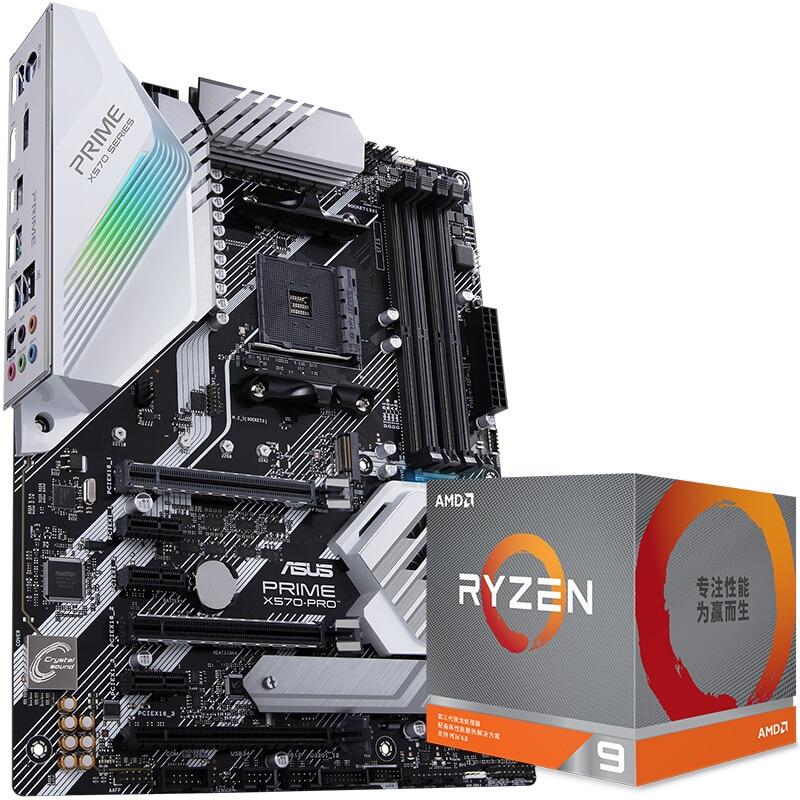 Nowa oryginalna płyta główna ASUS PRIME X570-PRO + R5 5600X/R7 5800X/R9 5900X płyta główna procesora + zestaw procesora