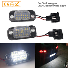 2 pçs led placa de licença lâmpada número luz para vw polo 3 clássico variante golf 3 cabriolet para seat ibiza cordoba canbus branco