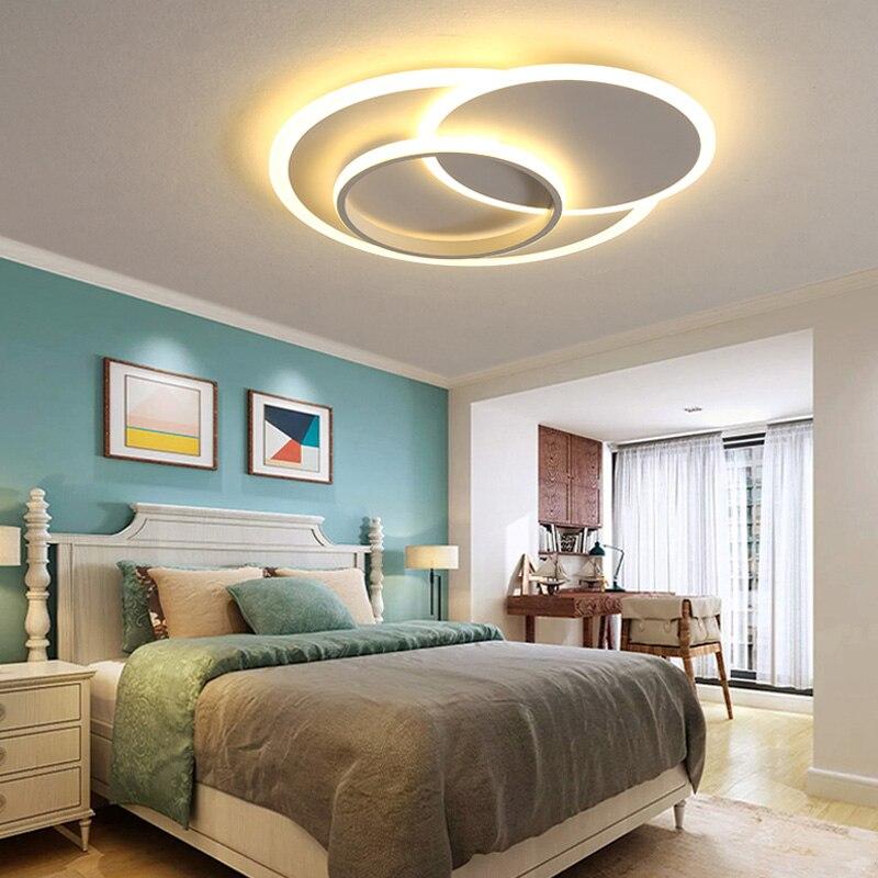 Chandelierrec Modern Led Chandeliers Ac85 265v Home Lighting Fixtures For Living Room Bedroom Low Ceilings Chandeliers Lights Chandeliers Aliexpress