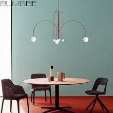 Nordic Minimalist Designer Line Chandelier Living Room Coffee Shop Hanglamp Loft Decor Luminaire Suspendu Hanging Light Fixture