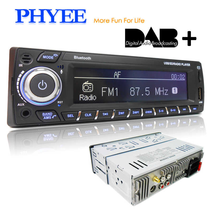 Phyee Dab Autoradio Autoradio 1 Din Stereo Audio MP3 Speler Rds Fm Am App Functies Usb Tf Iso Connector afstandsbedieningen SX-MP31089DAB