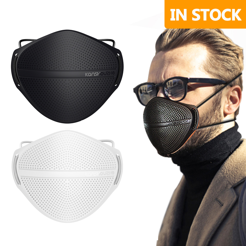 Adult Anti-Dust Face Mask Mouth Reusable Masks Activated Carbon Mouth Nose Disconnect-type Keep Warm Breathable Mask Washable