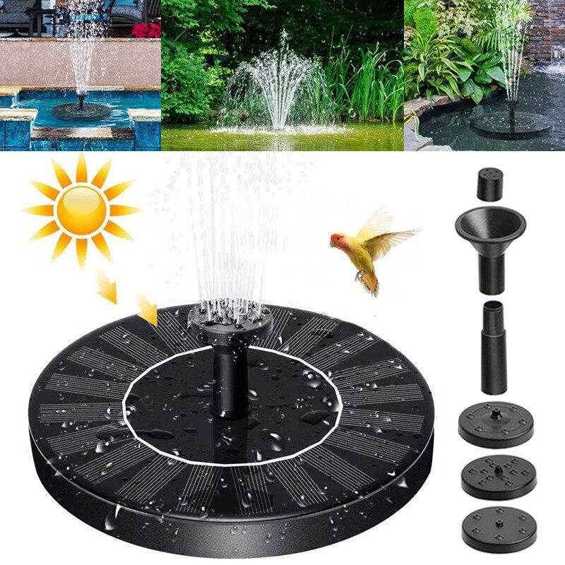 Водяной насос на солнечной энергии, декоративный поплавок для птичьего фонтана, бассейна, пруда, фонтана для украшения сада, внутреннего дв...