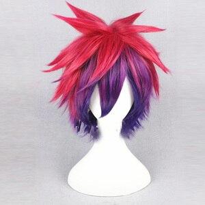 Image 5 - No Game No Life Shiro Sora EVA Cosplay corona Prop copricapo lungo colore misto dritto/corto parrucca rossa viola festa di Halloween