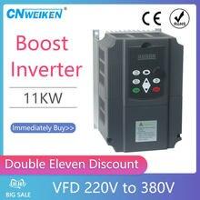 Inversor de frecuencia de 7,5kw/11 KW, 220V a 380V, entrada de 1 fase, salida de 220V, 3 fases de 380V