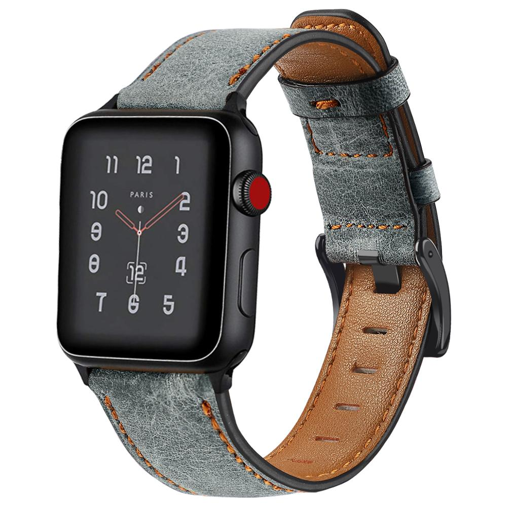 Strap For Apple Watch Bands Leather 38mm 44mm 40mm 42mm Replacement Genuine Leather Bands For Iwatch Bands 83011