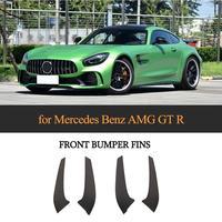 For Mercedes Benz AMG GT R Coupe Car Front Bumper Air Intake Grille Splitter Apron 2016 2017 2018 Carbon Fiber