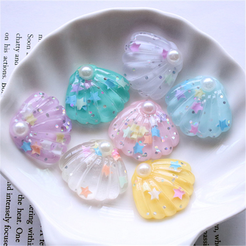 Happy Monkey Cute Slime Charms Additives Resin Glitter Star Shell Accessories DIY Decor For Fluffy Clear Crunchy Slime Clay