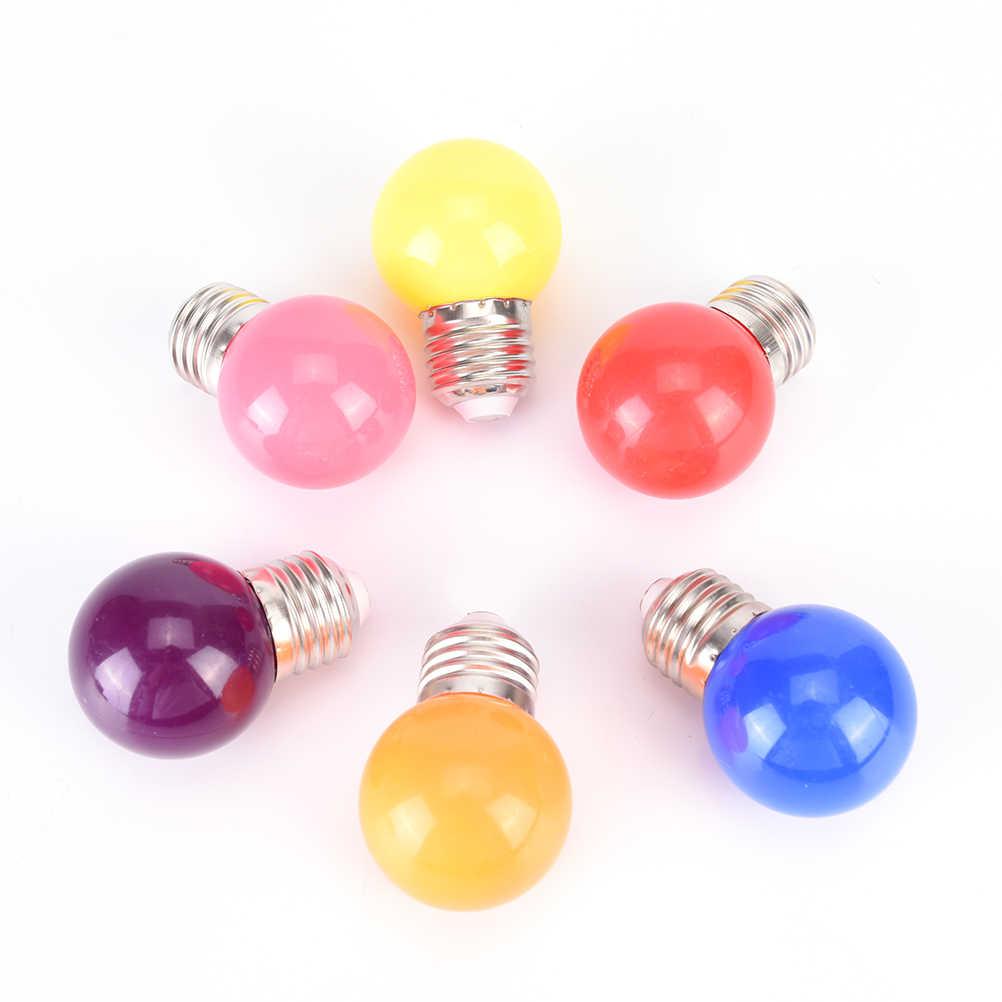 Ahorro LED pelota de Golf bombilla globo lámpara de Navidad azul verde púrpura colorido LED E27 2W RGB 110-240V 8 colores de energía