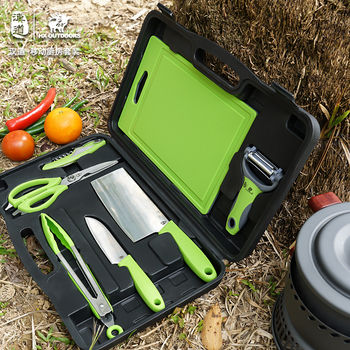 Hx Outdoors Camp Tableware Set Kitchen knife Camping Fruit Knives , Mobile kitchen EDC Tools ,Car Travel Tools Dropshipping