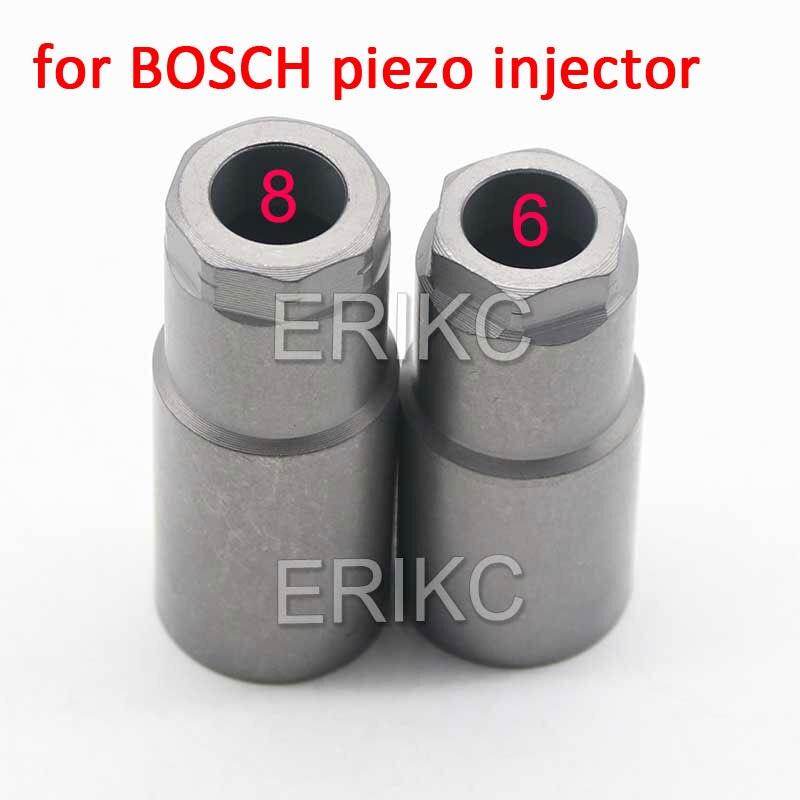 Conjunto comum da porca do bocal do injetor de combustível do trilho 8 e 6 ângulo tampa do bocal do injetor diesel para o acessório da injeção de bosch piezo
