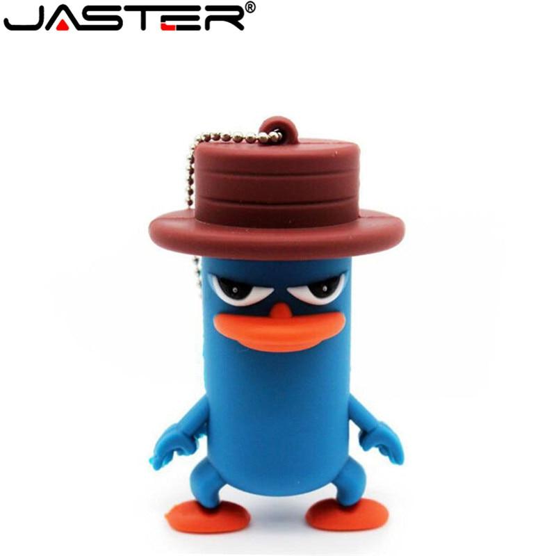 JASTER Newsute Cartoon Usb2.0 4GB 8GB 16GB 32GB 64GB Hat Duck USB Flash Drive Creative Stick Pendrive
