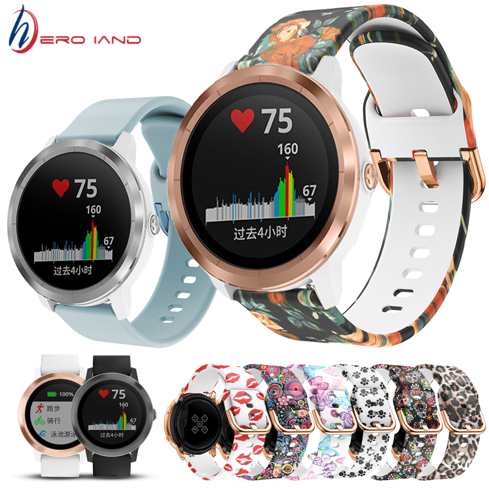 Colorful Soft Silicone Replacement Strap For Garmin Vivoactive 3 Vivomove HR Foreruner 245 245M 645 Smart Wristband Watch Band