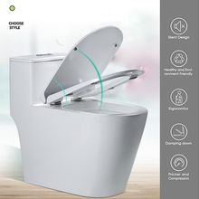silent design Toilet seat cream-white Non-yellowing Soft closing WC premium Scratch-resistant inodoro wc accessories(China)