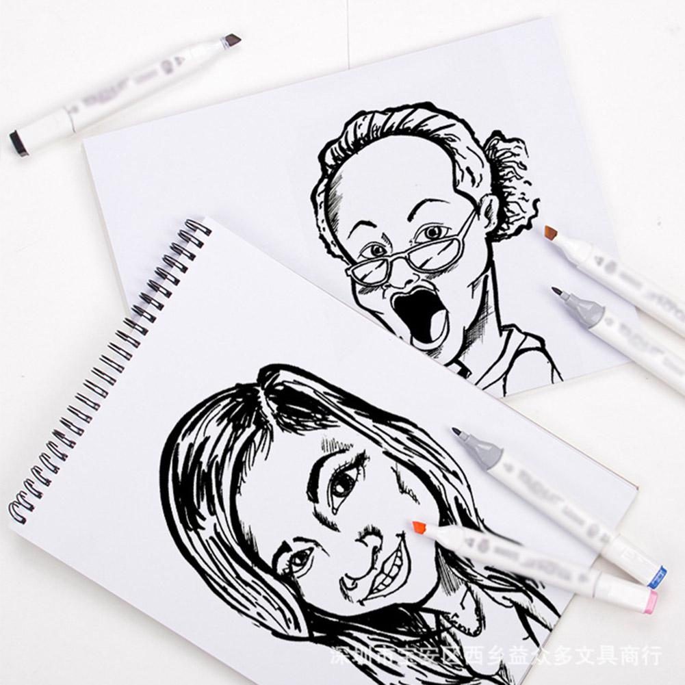 A4/A5 32 Sheets Waterproof Spiral Marker Pads Sketch Book Drawing Stationery заготовки для творчества Cotton Paper Watercolor