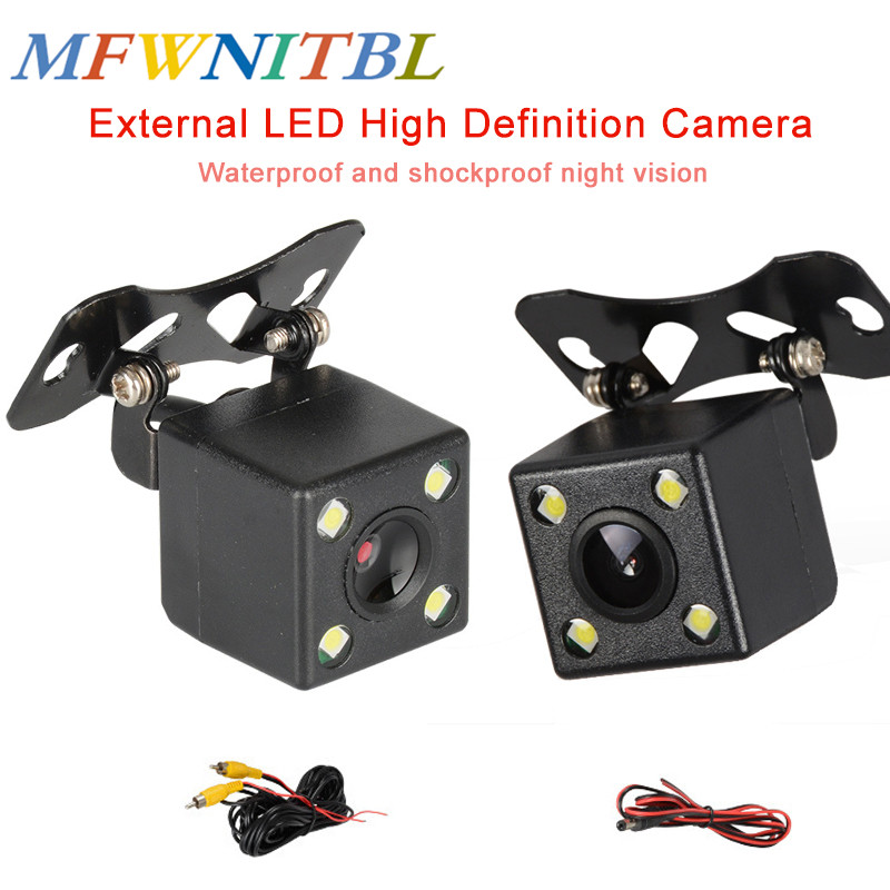LTBFM 4 LED Car Rear View Camera Parking Assistances HD CCD camera Wide Angle Waterproof Universal Parking Reverse backup Camera Vehicle Camera     -