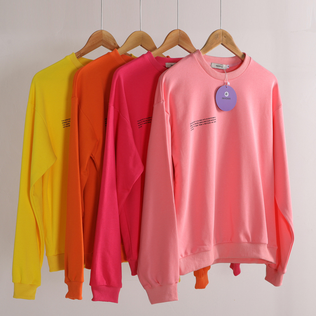Casual Oversized Sweatshirts for Women Long Sleeve Crew Neck Shirts Solid Color Tunic Tops Lightweight Pullovers Loose Clothing 1