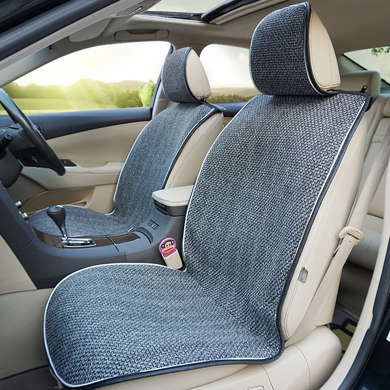 Four Seasons Car Seat Cushions for Front Two Seats Universal 2 Front Seat Covers