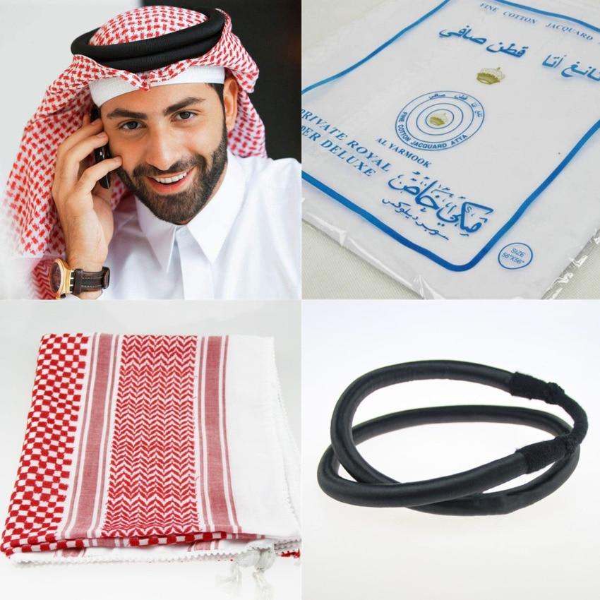 3 цвета, исламские мужские традиционные костюмы, мужской Клетчатый головной платок, мусульманский тюрбан, хиджабы, Дубай, арабский Рамадан, ...
