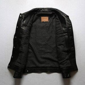 Image 4 - 年!送料無料。ヴィンテージスタイルのオイルワックスホースハイドジャケット、クラシックカジュアル557本革のコート、高品質革の服