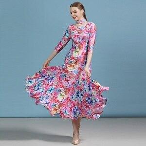 Image 1 - 安い社交ドレスラテンワルツダンスドレス女性スペインドレスフラメンコモダンダンスの衣装タンゴ衣装フォックストロットダンスドレスドレス