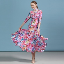 cheap ballroom dress latin waltz dance dress women Spanish dress flamenco modern dance costumes tango costume foxtrot dress