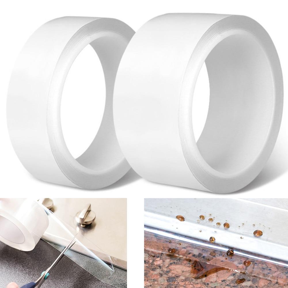 Self Adhesive Tape Kitchen Cooktop Tape Anti-mildew Waterproof Acrylic Transparent Sealing Sealant Strip Bathroom Water Barrier