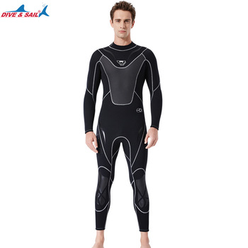 Full-body Men 3mm Neoprene Wetsuit Surfing Swimming Diving Suit Triathlon Wet Suit for Cold Water Scuba Snorkeling Spearfishing 7