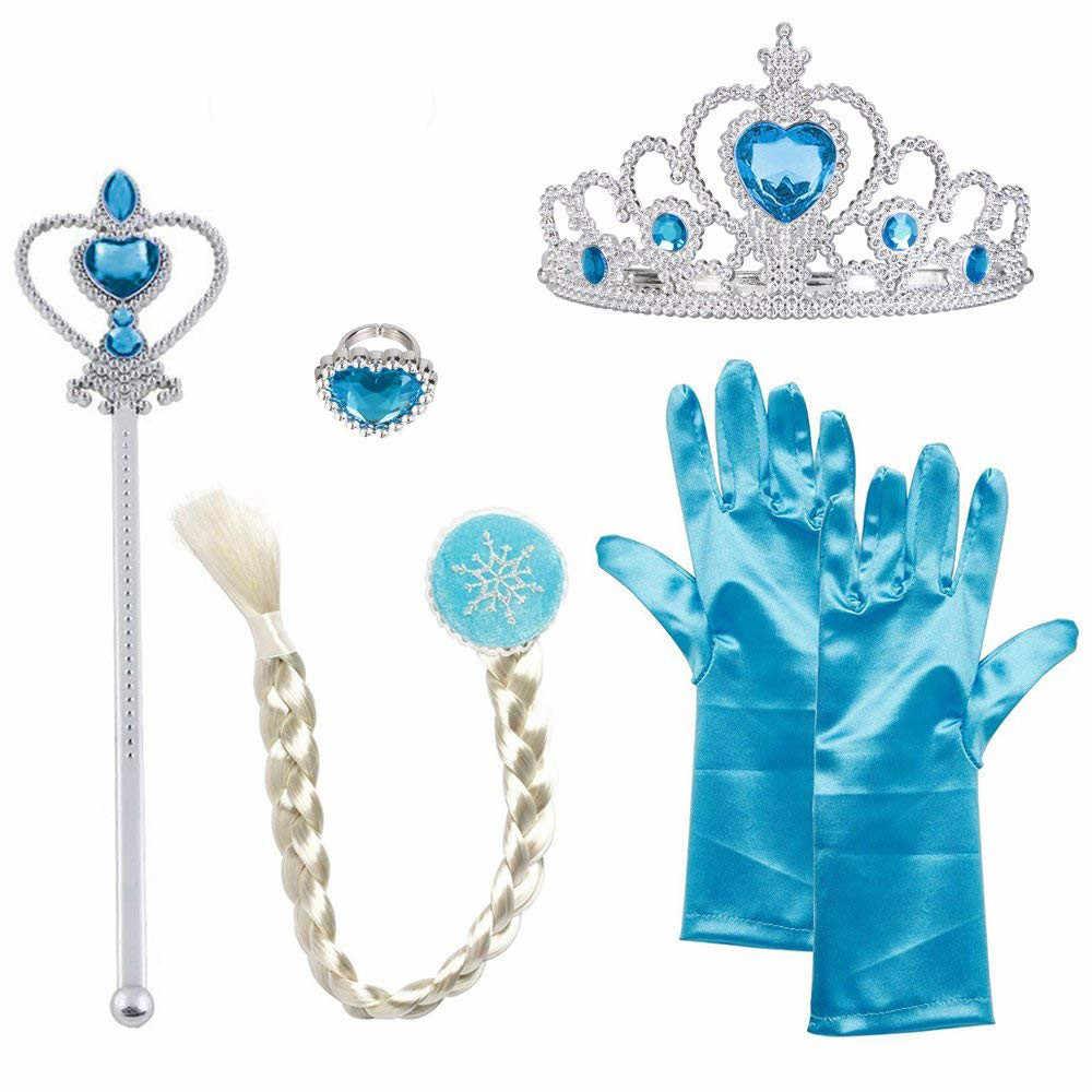 Fantasia enfants filles vêtements Cosplay reine Elsa robes Elsa Elza Costumes princesse Anna Elsa robe pour filles fête Vestidos