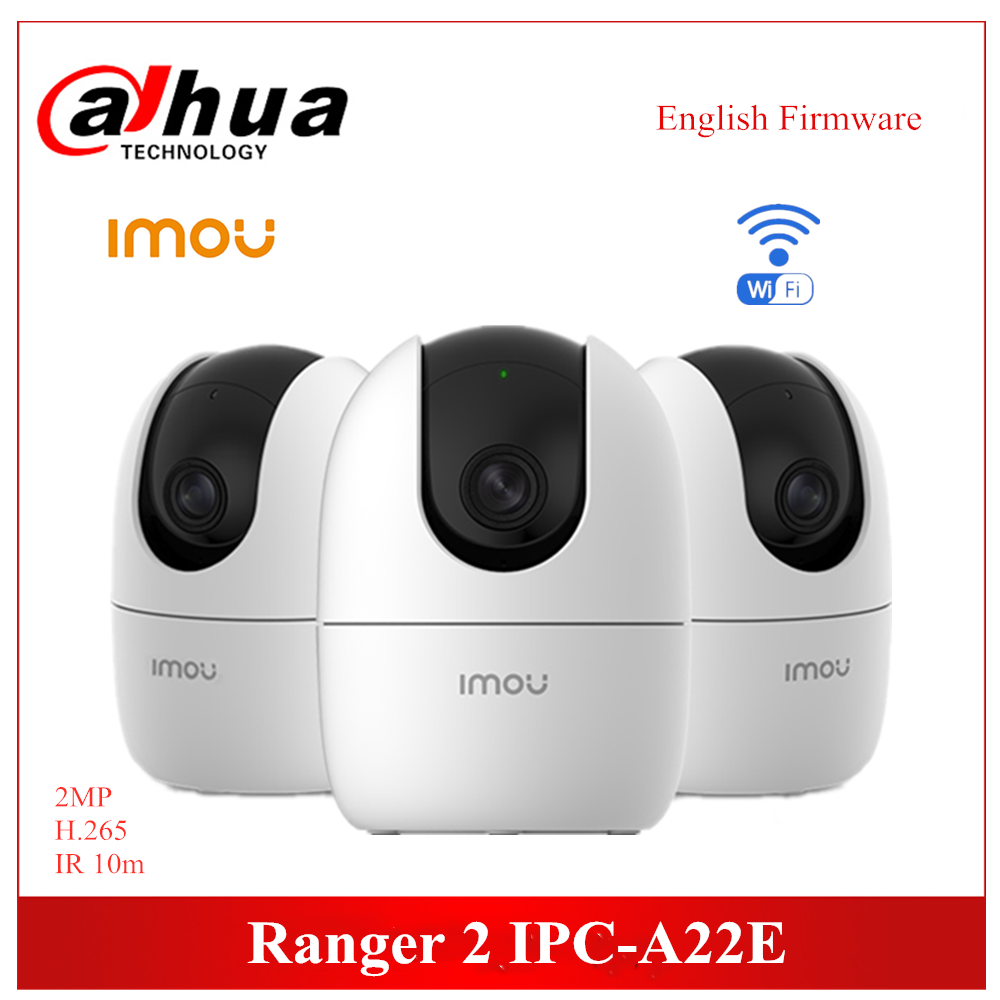 Dahua Imou Ranger 2 Wifi Camera 1080P H.265 Wi-Fi Pan & Tilt Camera IPC-A22E Built-in Mic & Speaker Night Vision Two-way Audio