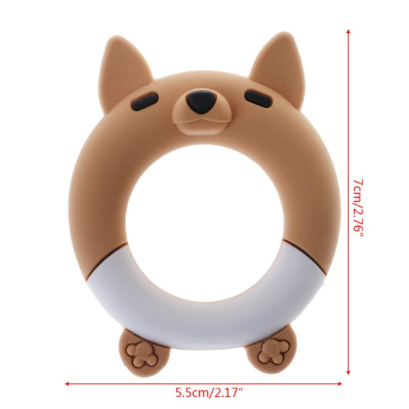 Купить с кэшбэком Baby Teether Cartoon Fox Teething Ring Bracelet Bangle Silicone DIY Necklace Pendant Food Grade BPA Free Safe Cute Newborn
