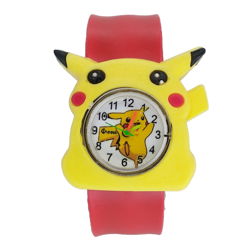 Colorful Bands Cute Kids Watches Children Cartoon Pikachu Watch Silicone Wristwatch For Boys Girls Baby Christmas Gift Kid Clock