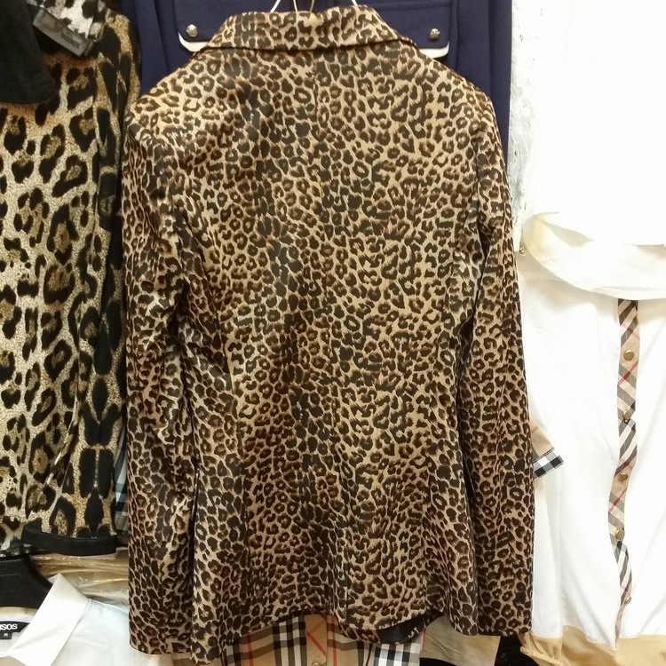 春と秋の新ファッションスリム女性のジャケットのスーツ韓国語バージョンのカジュアルボタンヒョウの女性のブレザー 2019