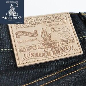 Image 3 - SauceZhan 316XX Casual Selvedge Jeans Raw Denim Jeans Ungewaschen Selvage Indigo Denim Jeans Gerade Herren Jeans