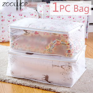 1Pc Fashion hot 2020 Household Items Storage Bags Organizer Clothes Quilt Finishing Dust Bag Quilts pouch Washable quilts bags(China)