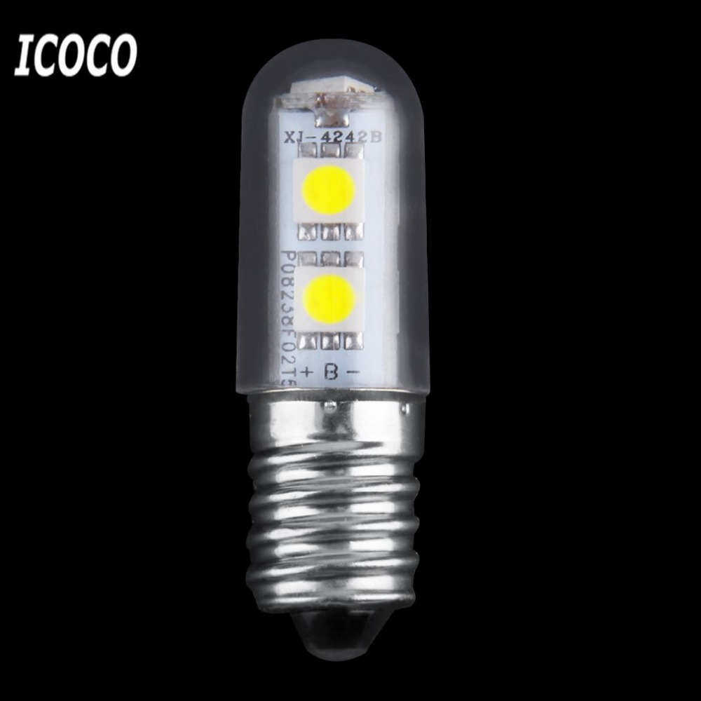 Mini E14 1W 7 LED 5050 SMD Nature/Warm White Refrigerator Light Bulb Lamp 110V/220V