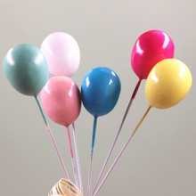 10pcs Colorful Gold Silver Balloon Cake Topper for Kid Wedding Birthday Party Decoration Dessert lovely Gifts