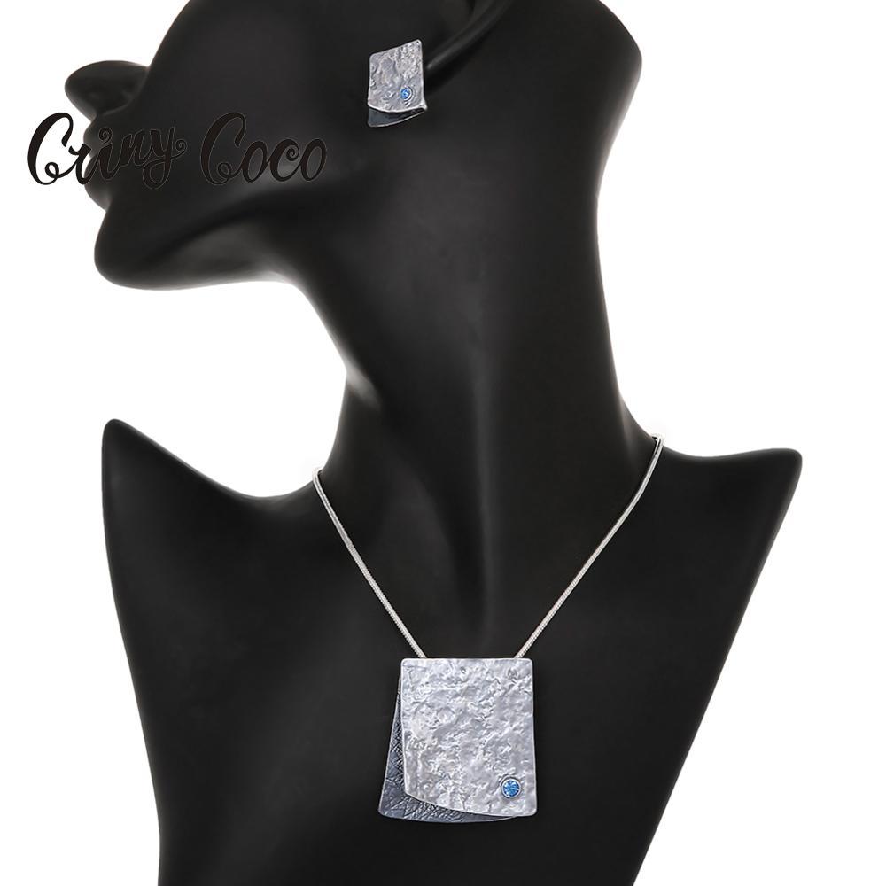 Cring Coco-collar con colgante grande para mujer, gargantilla de aleación de cuerda de alambre para fiesta, gran oferta 2020