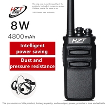 Walkie-talkie Business Hotel Two-Way Radio Station 4800mAh High Power 8W UHF HZT-A818 (3 Generations)