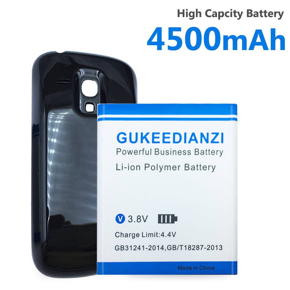 4500mAh Battery For Samsung Galaxy S3 mini i8190 I8190N s3mini Mobile Phone Battery EB425161LU +Free Bateria Door Case Cover image