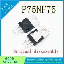 100 PCS 300 PCS STP75NF75 STP75N75 P75NF75 75NF75 75N75 MOSFET N CH 75V 80A 300W TO 220 3 (TO 220AB) oryginalny demontaż