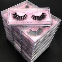 100 pairs/lot Wholesale Eyelashes faux mink lashes Handmade false eyelash 3D strip mink eyelashes fake faux 5D eyelashes Makeup