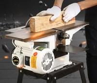 Min multifuncional carpintaria motosserra plaina 220 v 2800r com suporte e 1.3kw motor/ Plainas de madeira     -