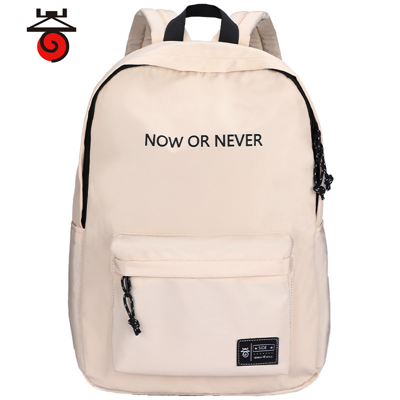 SenkeyStyle Fashion School Bag Nylon Backpacks Female Simple Letter Softback Teenager Backpacking Casual Large Capacity Travel